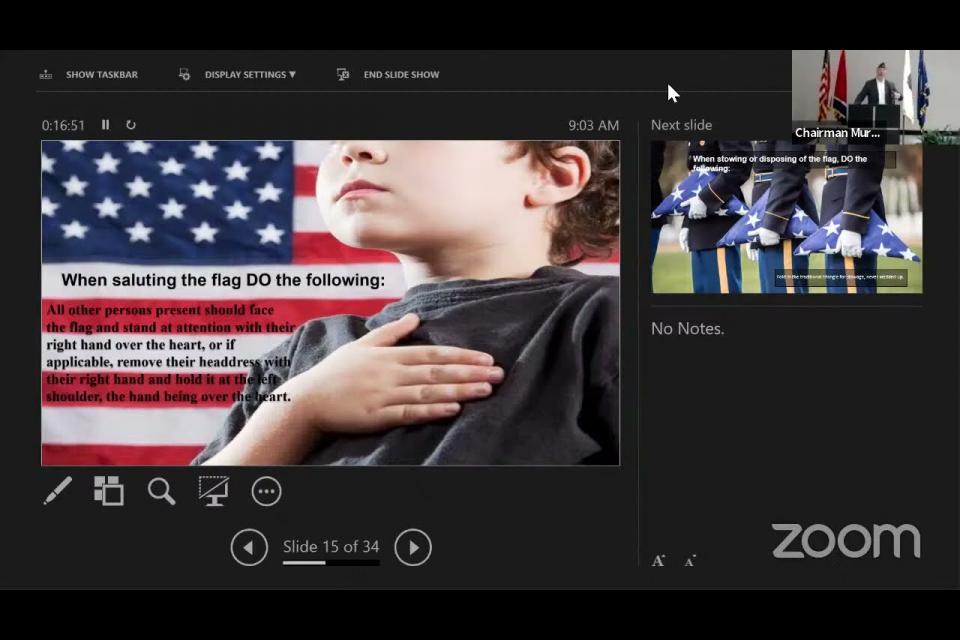 Embedded thumbnail for Chairman Murphy Flag Etiquette